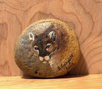 Rock painting of a colt